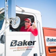 Baker Rigging Machinery Moving Machinery Movers Heavy Equipment Forklift Semi Truck Warehouse Storage Heavy Haul Trucking Transportation